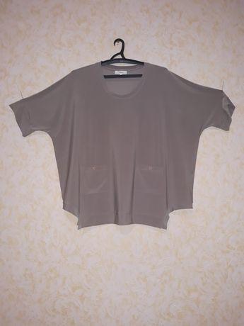 Бежевая блузка размер 28uk