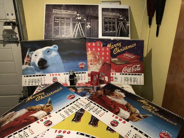 Coca cola calendarios e cartazes