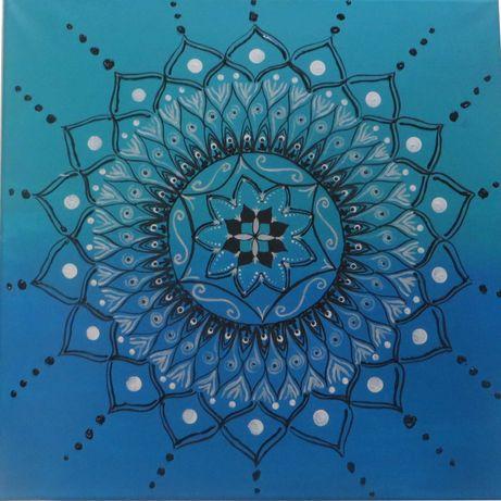 Mandala - pintura acrílica - tela 40x40cm