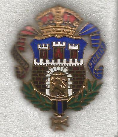 Piękna emaliowana odznaka miasta Lwów.