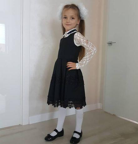 Школьное платье , школьная форма 1 класс, рост 122