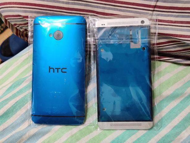 HTC One M7 Белая передняя панель корпус