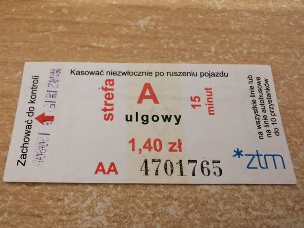 Bilet MPK Poznań