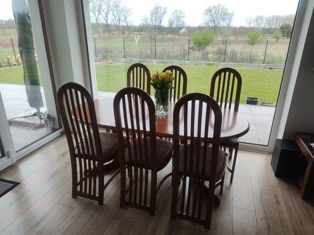 Stół z 6 krzesłami Fameg 95/130-230