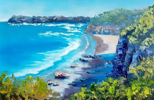 Картина маслом,морской пейзаж.