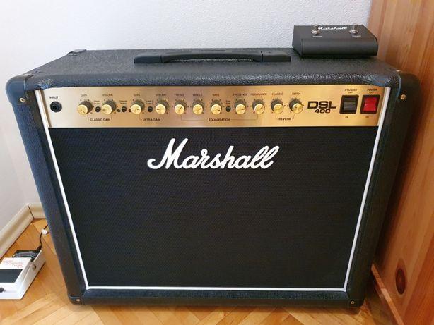 Marshall DSL40C + footswitch (stan idealny – jak ze sklepu)