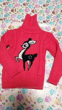 Красивый свитер для девочки 2-3-4 лет