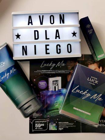 Avon Luck Lucky Me perfum męski prezent dla niego Mikołaj zestaw!