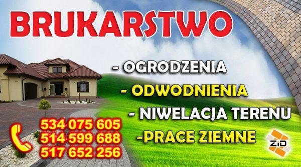 Usługi Brukarskie,Brukarstwo,Kostka Brukowa,Ogrodzenia,Wyburzenia