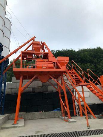Węzeł betoniarski 1,5m3  2 wałowy betoniarnia silos zbiorniki kruszywo
