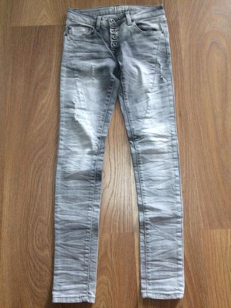 Jeansowe spodnie r.36