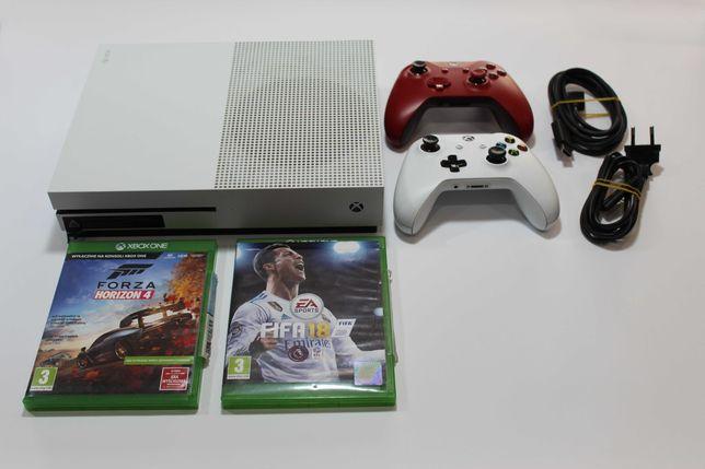 Konsola Xbox One S z napędem 512 GB + 2x pad + 2x gra Okazja