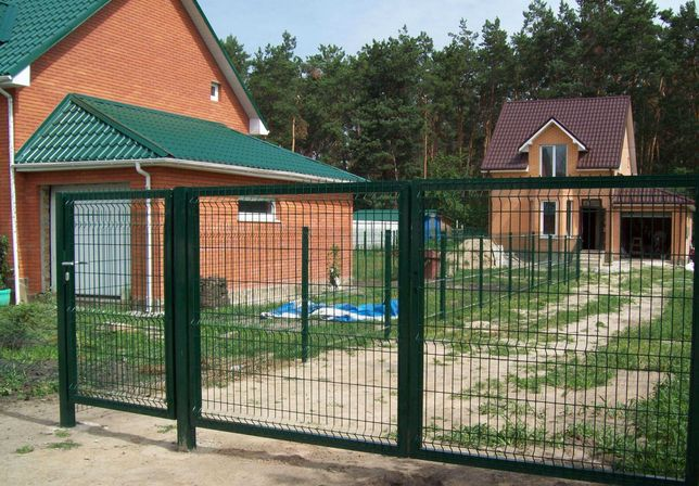 Калитка Ворота Забор из сварной сетки Секционные ограждения 3Д Одесса