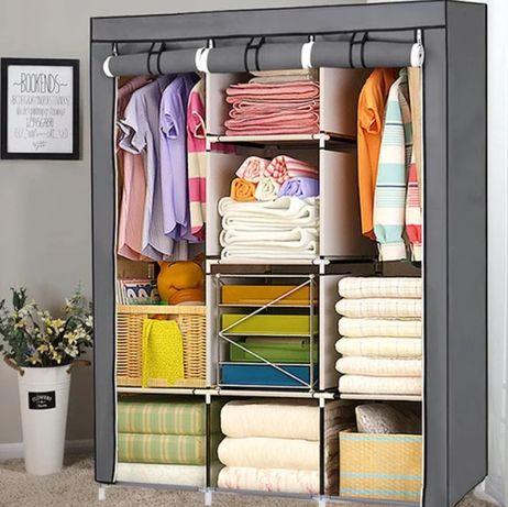 Складной каркасный тканевый шкаф Storage Wardrobe 88130 лучшая цена
