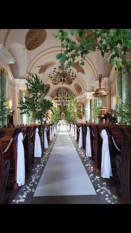 Odsprzedam dywan na ślub użyty jeden raz 20m szer. 120cm