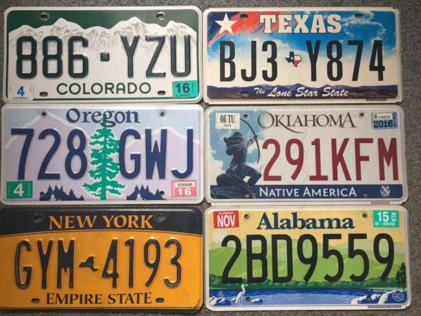 Американские автомобильные номера США ( USA license plates)