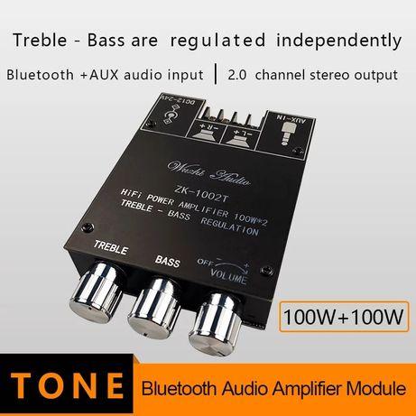 Усилитель D класса ZK-1002T TPA3116 D2 2 по 100 W Bluetooth 5.0 AUX