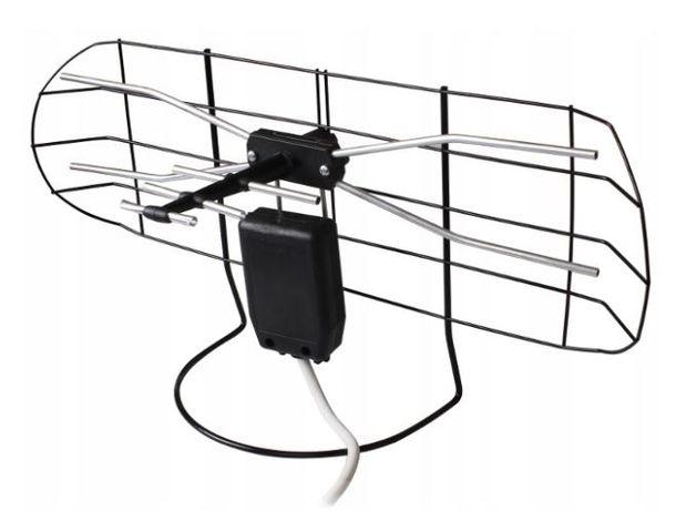 Antena Pokojowa balkonowa DVBT Kabel wzmacniacz