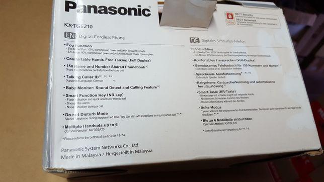 Telefon Panasonic KX-TGE210 bezprzewodowy