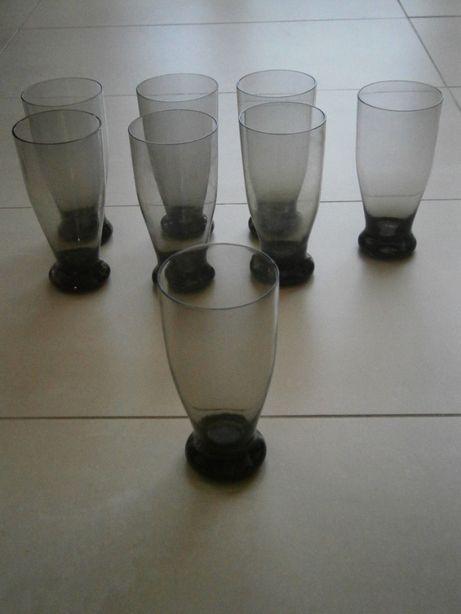 Szklanki czarne fioletowe 8 szt cienkie szkło