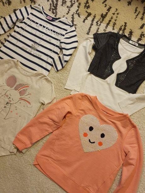 Paka ubrań lato 128 bluza bluzka ubrania jesienne dla dziewczynki