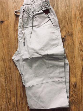 Nowe spodnie męskie joggery bojówki XL