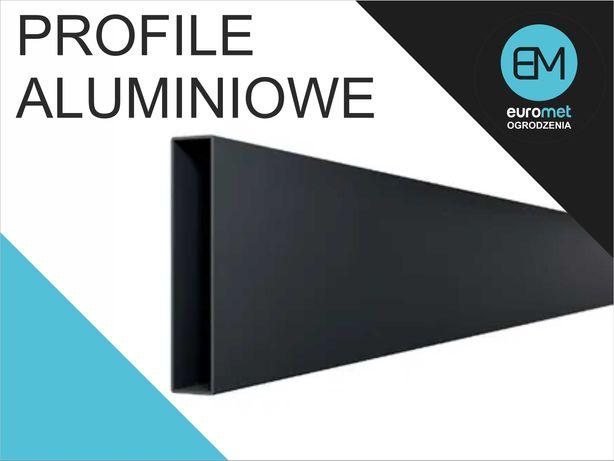 profil aluminiowy malowany 100x20 aluminium przęsło brama furtka