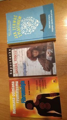 3 książki Fibromialgia Jak zerwać z plastikiem Reporterka Hanna Krall