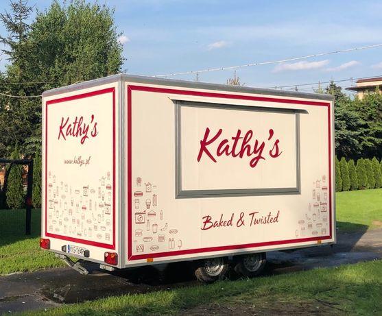 Przyczepa gastronomiczna / foodtruck/ food truck 4m, cała WYPOSAŻONA,