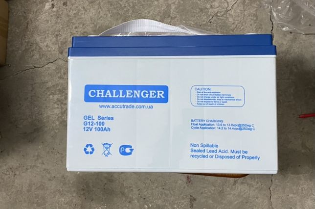 Аккумуляторная батарея гелевая Challenger G12-100  Аккумулятор гелевый