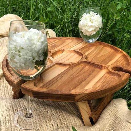 Винный столик , Оригинальный подарок, декор для дома
