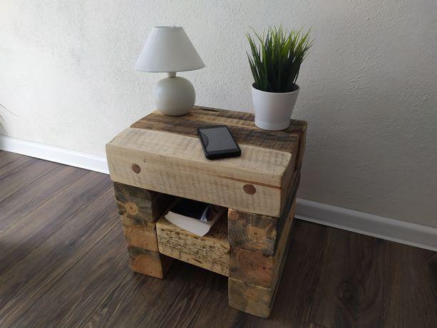 Stolik szafka nocna / ozdobna ze starego drewna . . .
