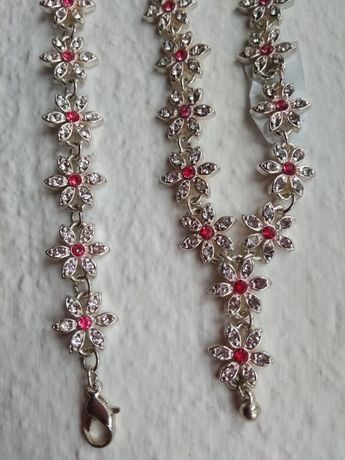 Conjunto colar e pulseira Bijou Brigitte