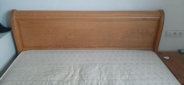 Solidne drewniane łóżko 160X200 ze stelażami REGUMATIC