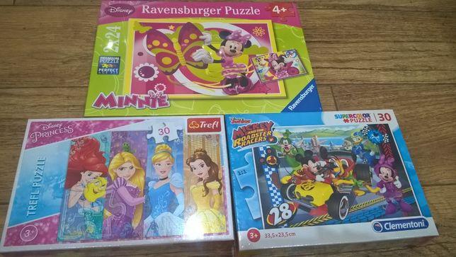 Puzzle 2+, Puzzle 3+, Puzzle 4+, układanki, -6 opakowań NOWYCH puzzli