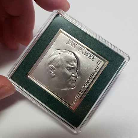 20 zł Jan Paweł II 25-lecie pontyfikatu 2003 r., menniczy stan