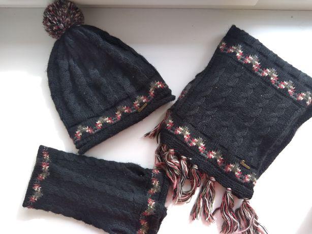 Набор шапка шарф перчатки