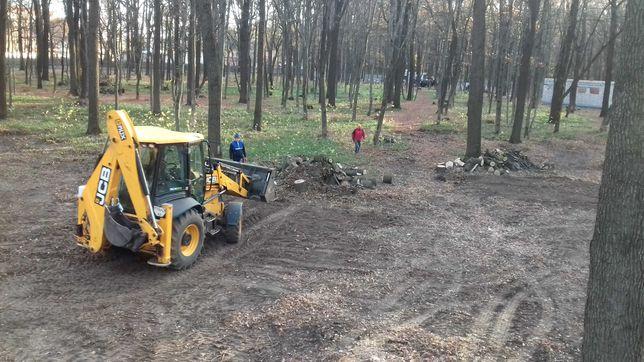 Спил деревьев ,расчистка участков под строительство