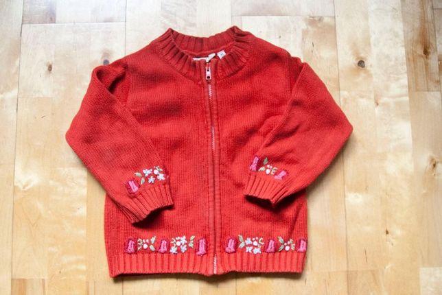 komplet sztrusy + sweterek 98