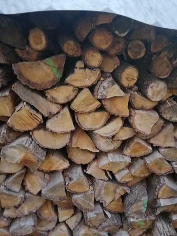 Drewno kominkowe sezonowane dąb. Brzoza