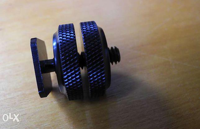 Parafuso 3/8 tripod mount screw to flash hot sho