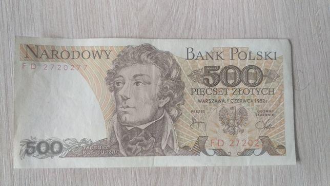 Banknot 500zł Tadeusz Kościuszko