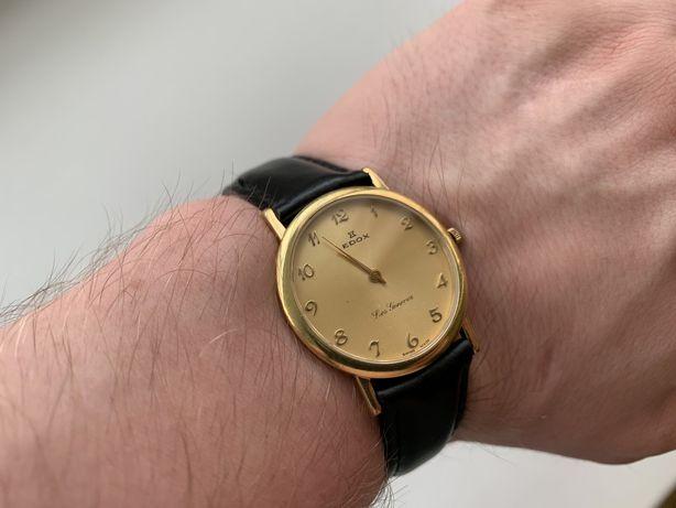 Часы EDOX позолота 750 проба Мужские-Женские ETA 282.001