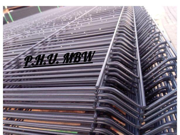 Ogrodzenie panelowe H-1,23 fi 4 ocynk+kolor RAL 7016 antracyt