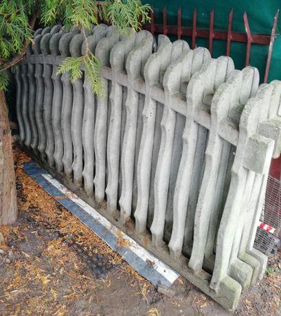 Sprzedam ogrodzenie betonowe.
