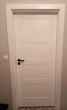 Drzwi wewnętrzne drewniane białe DM-2