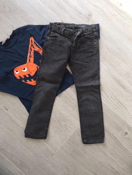 R 110/116 ZARA spodnie, H&M bluzka/bluza