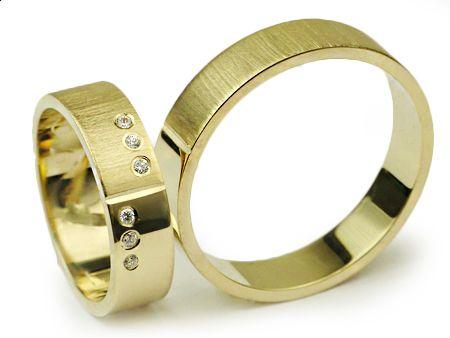 Złote Obrączki 585 I011 Jubiler Goldrun CHORZÓW - Bezszwowe!