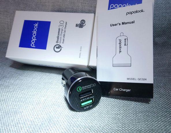 Автомобільна USB зарядка з QuickCharge 3.0