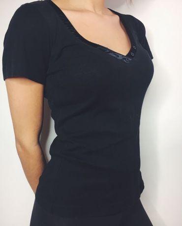 Czarny t-shirt, bluzka z Mexx xs